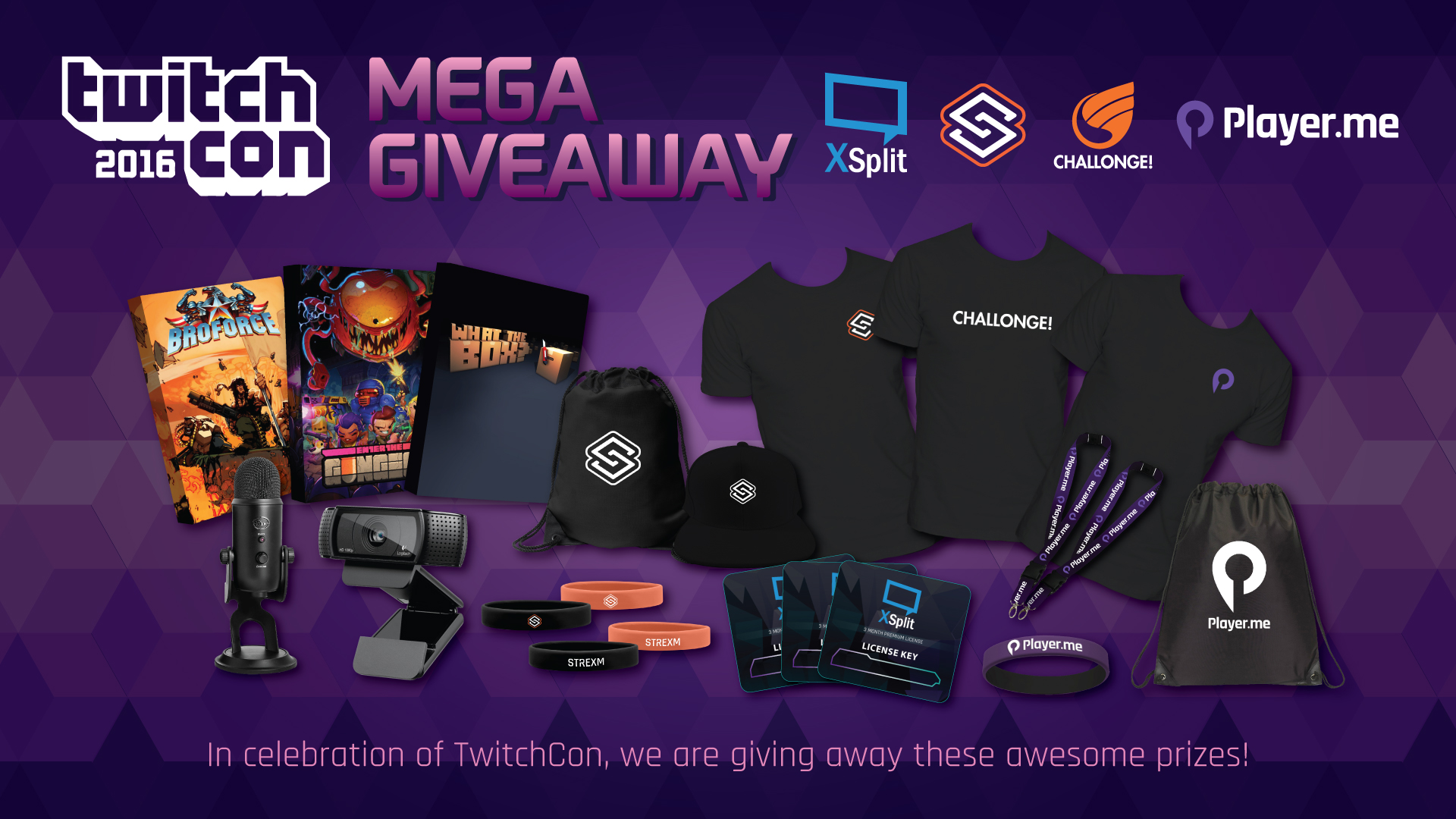 Logitech C920 camera & a Blue Microphone Yeti Blackout Edition Mega Giveaway by TwitchCon