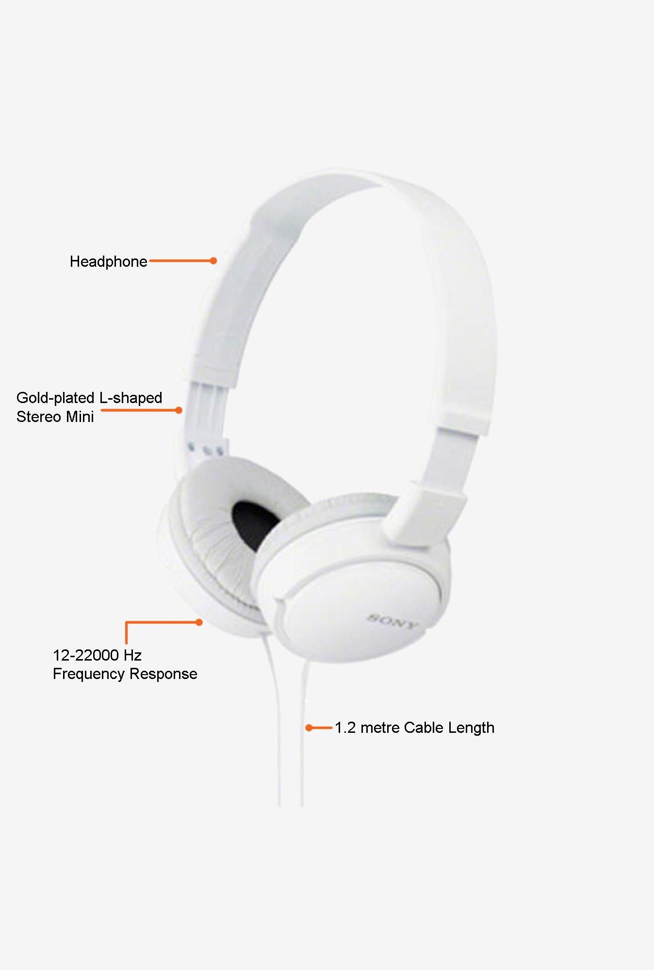 Sony MDR-ZX110 On the Ear Headphone White for Rs 399 (69% Off) at Tata CLiQ