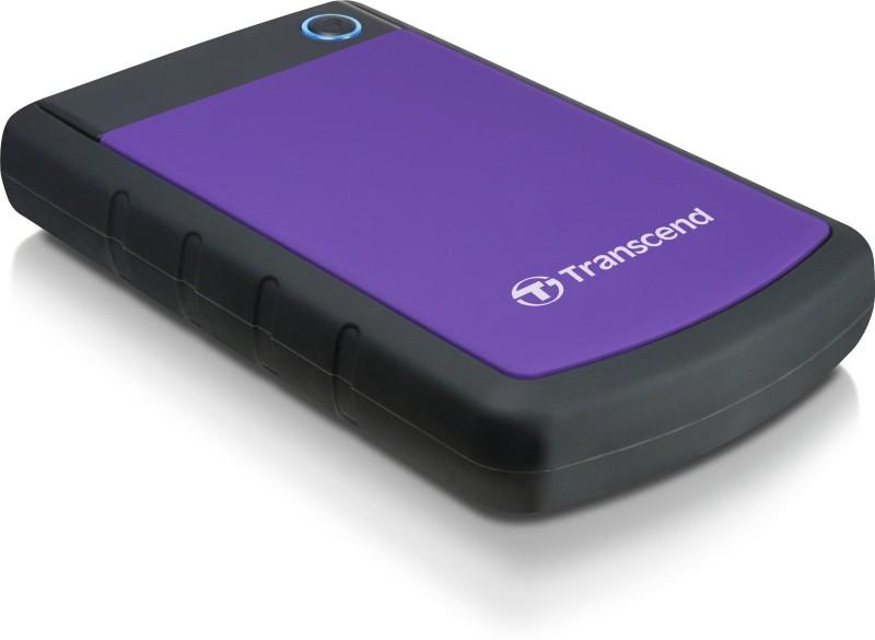 Transcend 2TB Portable 2 TB External Hard Disk Drive (Purple)
