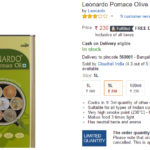 Leonardo Pomace Olive Oil (Tin), 5L for Rs 230 Only