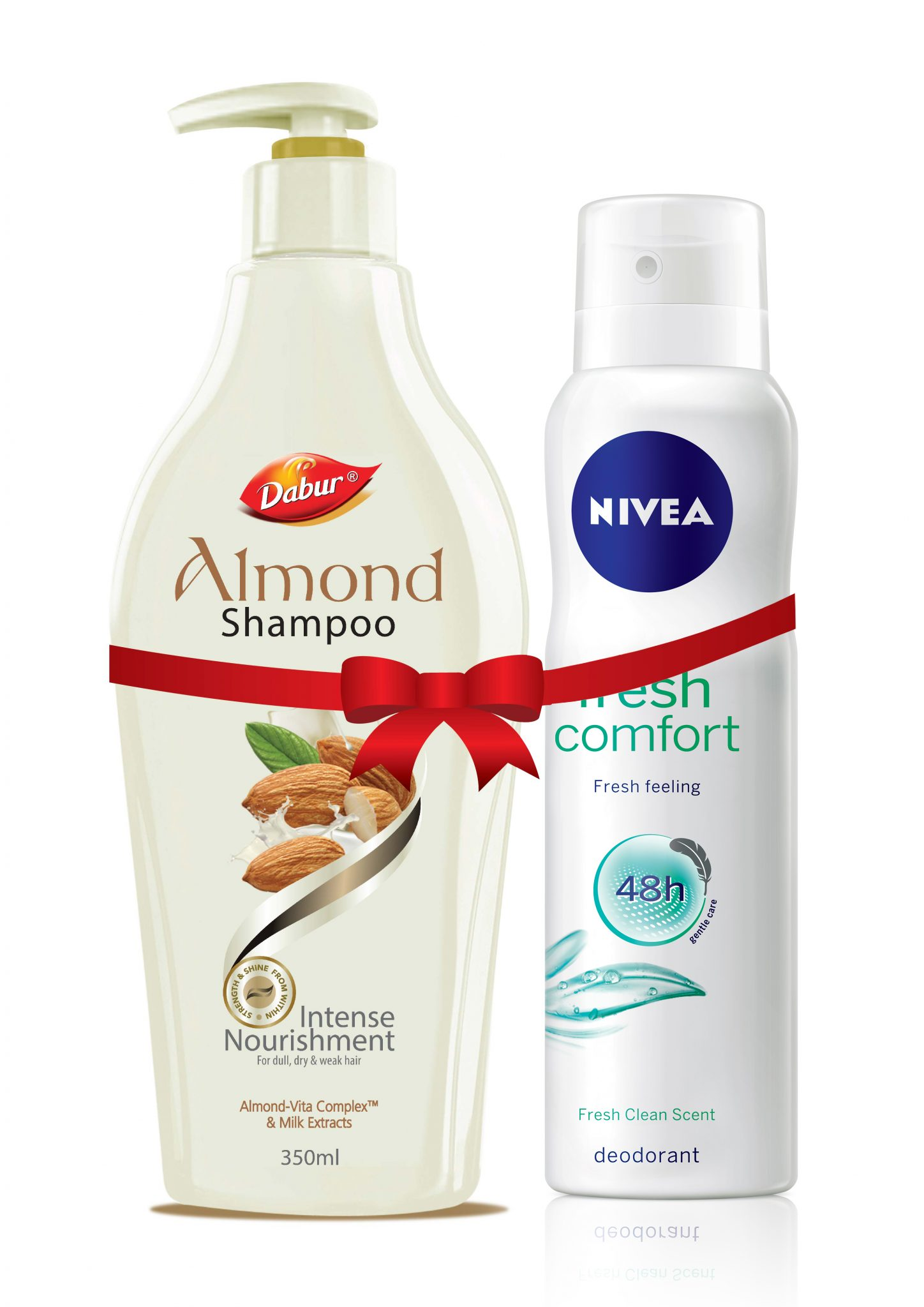 Dabur Almond Shampoo 350 ml with Free Nivea Deo worth Rs 190 for Rs 242