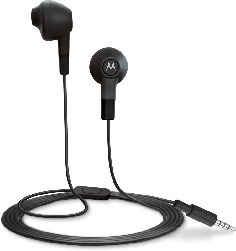 Motorola Lumineers Wired Headset With Mic(Black)