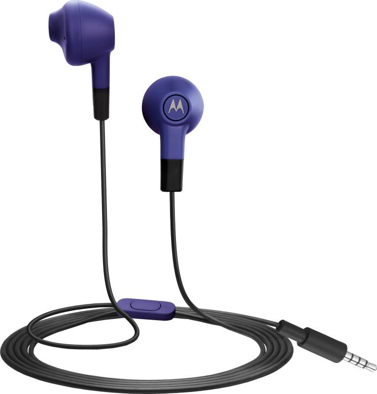 Motorola Lumineers Wired Headset With Mic(Purple)