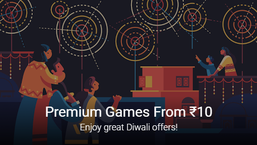 Play Store Diwali Sale - Play Store Diwali Sale - Premium Games From Rs10