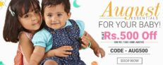 Get Flat Rs 500 Off on Purchase of Rs 1500 at Babyoye