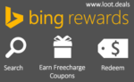 Get Free Recharge worth Rs.100 every month – Bing Rewards