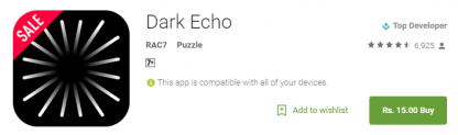 [Cheapest Ever- 75% Off] Dark Echo for Rs. 15 only