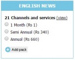 Tata Sky English News Pack with 23 Channels for Rs 1 only.