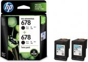 HP 678 Twin Pack Black Ink (Black) for Rs 606 + 50 Cashback