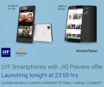 LYF Phones with JIO Preview Offer (Unlimited Internet, Voice and Text) Exclusively on Flipkart