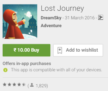 Get Lost Journey Game for Rs 10 from Google Play Store