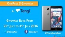 OnePlus 3 Giveaway by FoneArena & Tengi