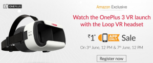 Get OnePlus Loop VR Headset for Rs 1 on Amazon.