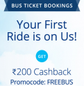 PayTM Bus Booking Get Flat 100% Cashback up to ₹200