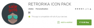RETRORIKA ICON PACK for Rs10 Only (90% off)