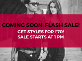 Get Fashion Products for just Rs 70 – Tata CLiQ Flash Sale For Two Hours