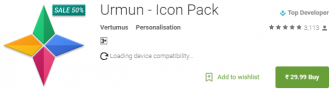 Urmun – Icon Pack for Rs 30 Only on Google Play Store