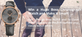 Win a Hugo Boss Chronograph Watch and Make it Smart