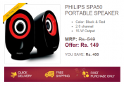 Buy Philips SPA50 Portable Speakers Worth Rs.549 in Rs.149 only