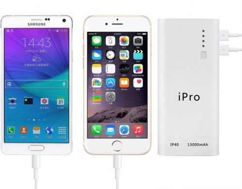 iPro iP40 Portable Powerbank 13000 mAh Power Bank(White)