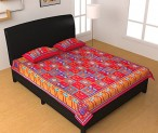 jiya Decor 100% Cotton Double Bed Sheet With 2 Pillow Cover for Rs 449 (70% off)