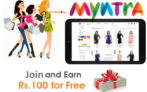 Free Shopping worth Rs.100 at Myntra + Refer and Earn Upto Rs.2000