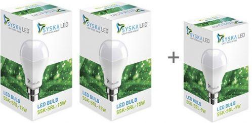 Syska Led Light 15W(White, Pack of 2)