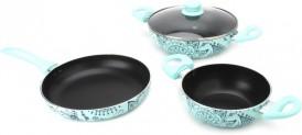 Wonderchef Oscar Blu Set Bello Cookware Set  (PTFE (Non-stick), 4 – Piece) for Rs 1399 (65% Off)