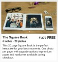 Zoomin 6×6 Inch Photobook 20 Pages Worth Rs. 279 for Free